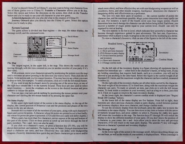 Blick in den Ultima VI Reference Guide