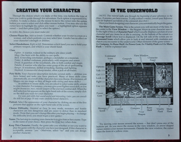 Ultima Underworld Player Guide